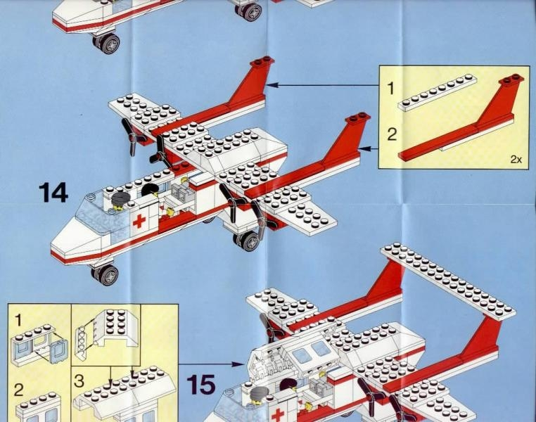 lego airplane instructions 6368
