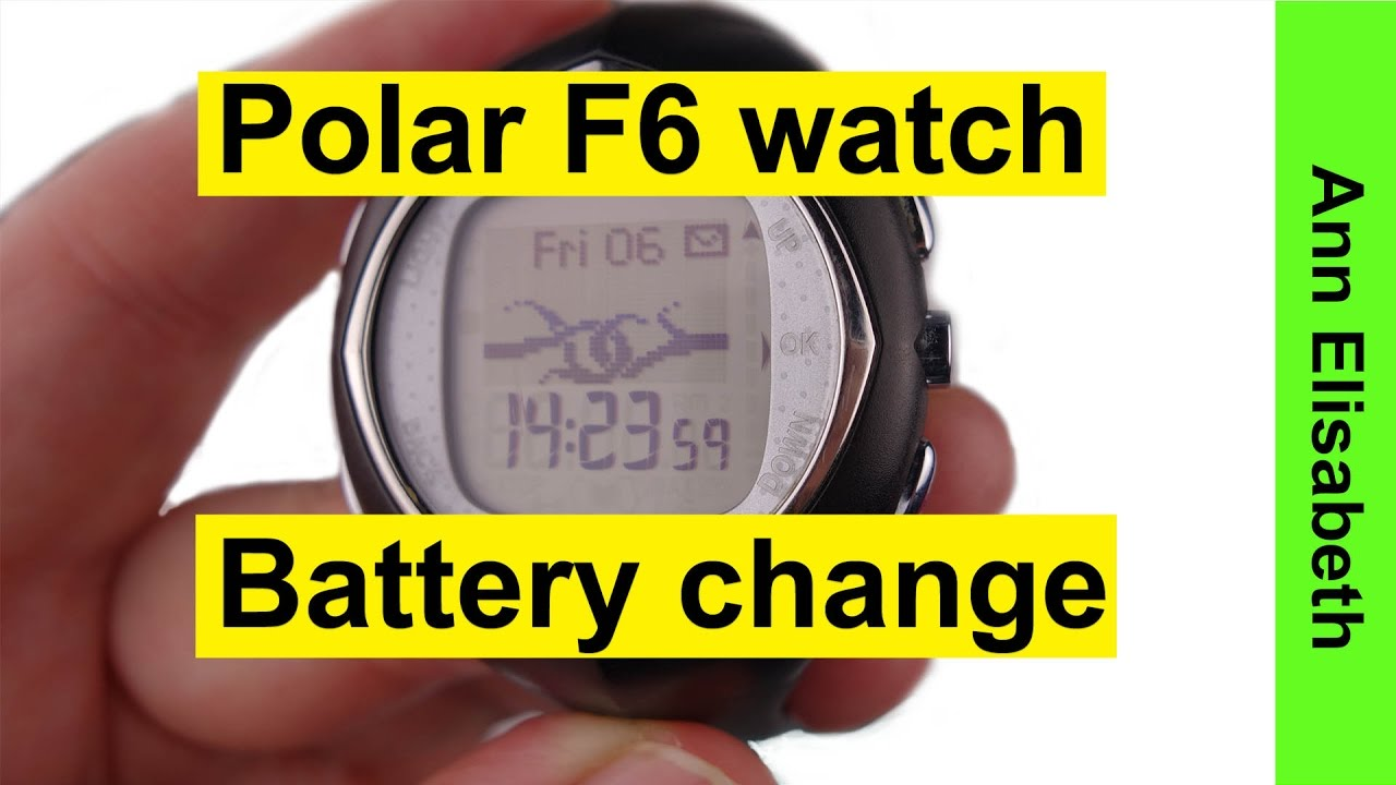 polar f6 battery replacement instructions